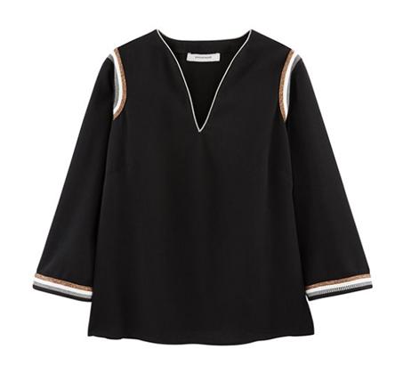 חולצה עם עיטורי זהב Promod לנשים - שחור