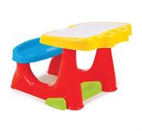 שולחן פלסטיק לחדר ילדים הכולל תא אחסון וספסל