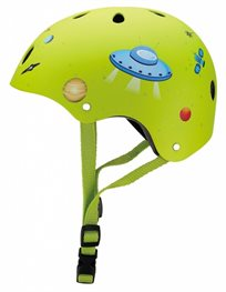 קסדה בטיחותית ומעוצבת עם מנגנון התאמה לראש - צהוב