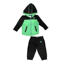 Adidas חליפה (3 חודשים - 7 שנים) - ירוק שחור