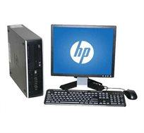 """תחנת עבודה HP מסדרת ELITE מעבד i5 זיכרון 8GB דיסק קשיח 480SSD+1TB  מ.הפעלה WIN10 מחודש+מסך """"19 מתנה"""
