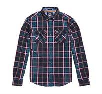 חולצה מכופתרת משובצת Superdry לגברים בצבע ירוק/אדום