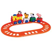 צעצוע לילדים - רכבת קטר מוזיקלית עם 3 חיות
