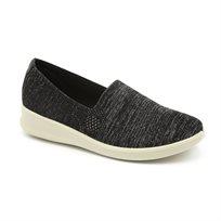 Seventy Nine - נעלי סליפ און מוגבהות מבד אריג בצבע שחור