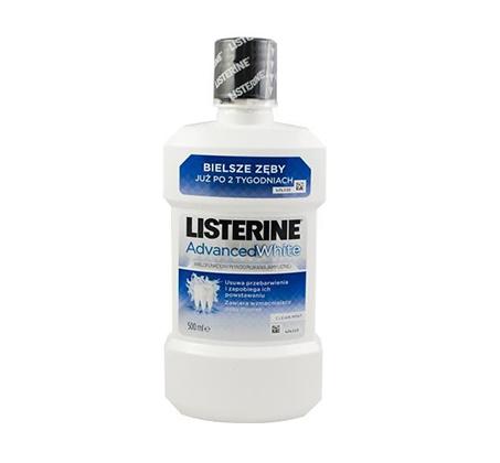 """5 יחידות מי פה ליסטרין 500 מ""""ל Listerine Advanced White"""