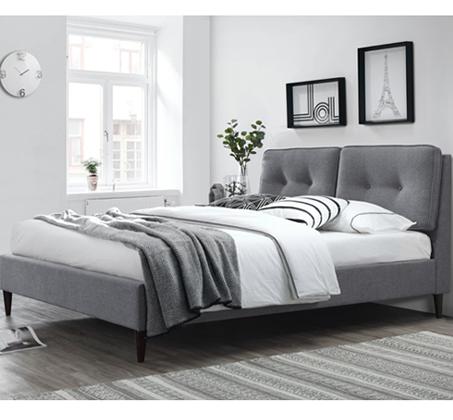 מיטת זוגית מבד עם כריות ראש דגם KARLITA