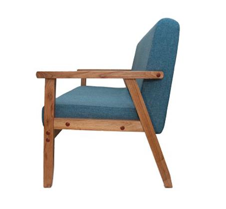 כורסא מיני משולבת בד עם ידיות עץ כולל 2 כריות מתנה - תמונה 3