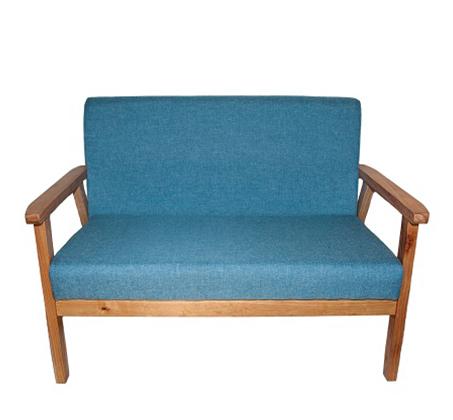 כורסא מיני משולבת בד עם ידיות עץ כולל 2 כריות מתנה - תמונה 2