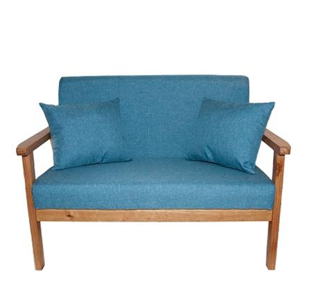כורסא מיני מעוצבת עם ידיות עץ בוק