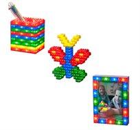 משחק מבריקים 75 קוביות מבריקות ומוארות LIGHT STAX, תואם גודל קוביות LEGO - משלוח חינם!