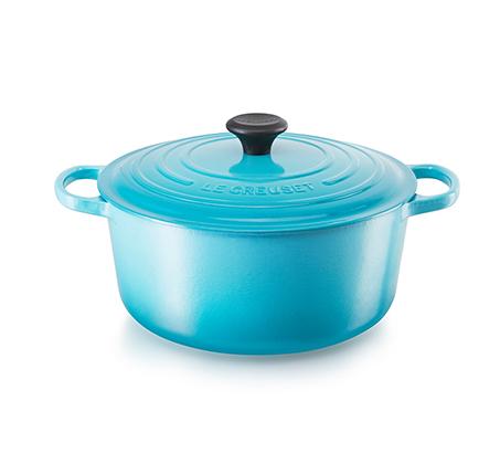 """סיר 22 ס""""מ ברזל עגול יצוק לכל סוגי הכיריים ולתנור במגוון צבעים לבחירה"""
