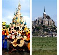 נורמנדי ודיסני! 5, 7 או 10 לילות בצרפת כולל טיסות, לינה, רכב וכניסה ליורודיסני החל מ-€818* לאדם!