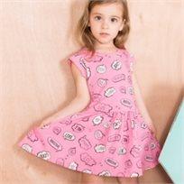 שמלה ורודה לתינוקת מיננה (24-6 חודשים) - ורוד פוקסיה