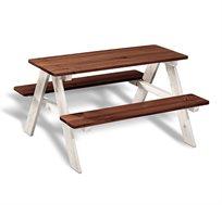 שולחן מעץ מלא לפיקניק עבור ילדים למרפסת או לחצר