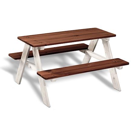 שולחן פיקניק לילדים מעץ אורן מלא - משלוח חינם
