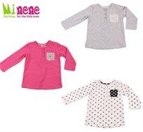 קולקציית חורף 2015 ב-Minene! חולצה מעוצבת, עשויה 100% כותנה רכה ומלטפת במגוון צבעים ומידות לבחירה