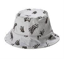 כובע טמבל עם הדפס קישקושים BABY ROCK בצבע אפור