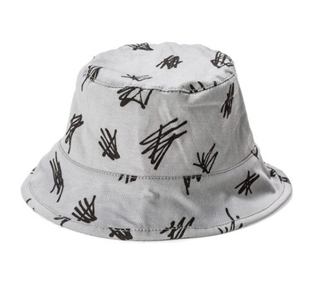 מודרניסטית כובע טמבל עם הדפס קישקושים BABY ROCK בצבע אפור XP-69