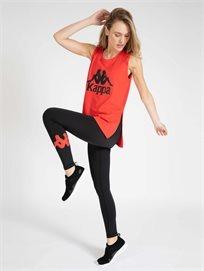 Kappa נשים // טייץ לוגו שחור/אדום