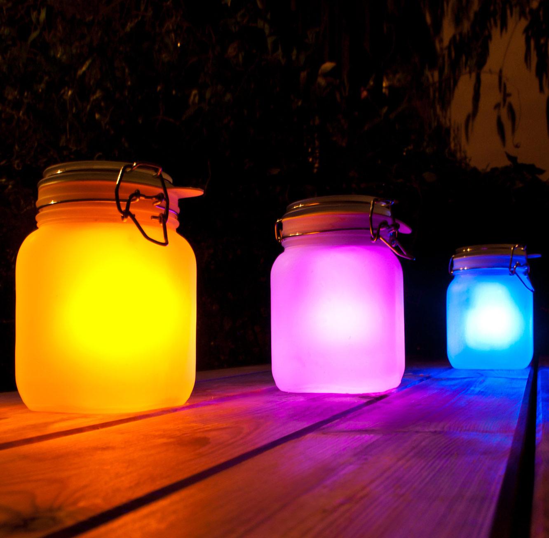 מדהים מושלם לגינה ולבית! s-jar תאורה סולארית מזכוכית מחליפה צבעים בצורת GA-99