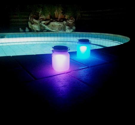 ברצינות מושלם לגינה ולבית! s-jar תאורה סולארית מזכוכית מחליפה צבעים בצורת HF-37