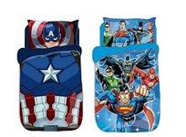 סט מצעים יחיד לבנים, ליגת הצדק וקפטן אמריקה מסדרת דיסני - משלוח חינם!