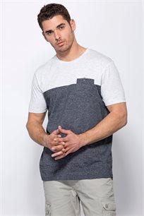 חולצת טי שילוב בדים
