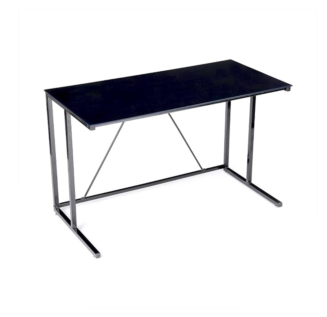 שולחן כתיבה אלגנטי עם משטח זכוכית רחב