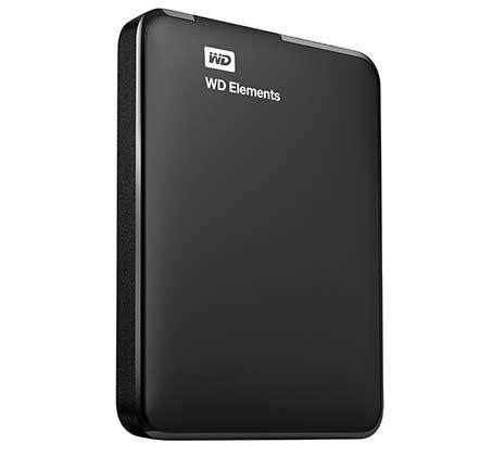 """דיסק קשיח חיצוני """"2.5 WD נפח 1TB מהיר בחיבור USB 3 דגם Elements WDBUZG0010BBK"""