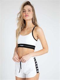 KAPPA נשים // טופ ספורטיבי לבן/שחור