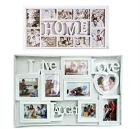 מסגרת לתמונות משפחה המעוטרת במילים באנגלית ומתאימה לכל קיר בבית המשפחה, ב-2 דגמים לבחירה