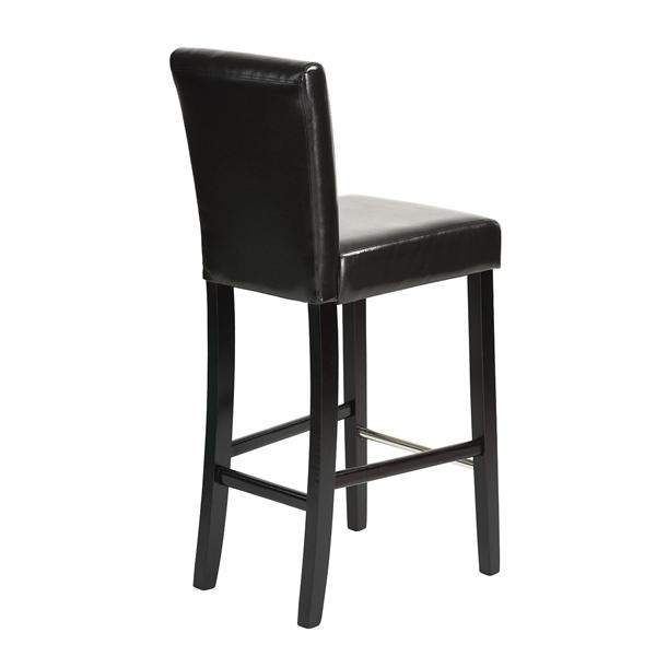 כיסא בר יוקרתי דגם נילסן בריפוד דמוי עור ורגלי עץ טבעי HOMAX - תמונה 4