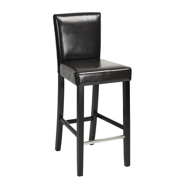 כיסא בר יוקרתי דגם נילסן בריפוד דמוי עור ורגלי עץ טבעי HOMAX - תמונה 2