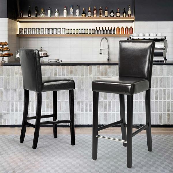 כסא בר בריפוד דמוי עור דגם נילסן