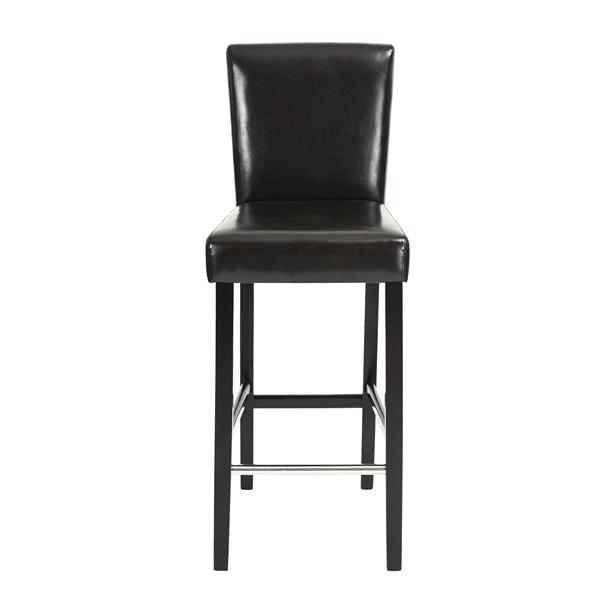 כיסא בר יוקרתי דגם נילסן בריפוד דמוי עור ורגלי עץ טבעי HOMAX - תמונה 3