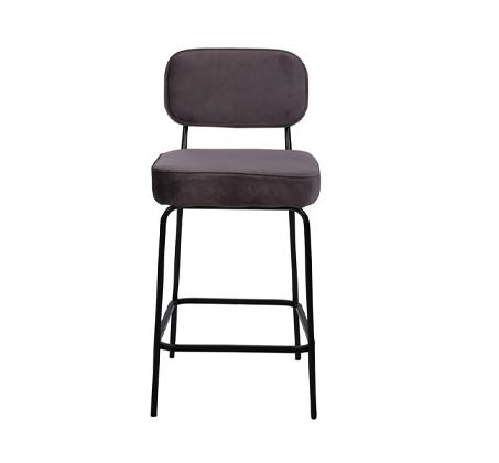 כיסא בר בצבע אפור דגם ניקו ביתלי בעיצוב רטרו