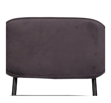 כיסא בר דגם ניקו ביתלי בעיצוב רטרו מדליק בעל רגלי מתכת חסונות וריפוד בד בצבע אפור - תמונה 3