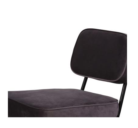 כיסא בר דגם ניקו ביתלי בעיצוב רטרו מדליק בעל רגלי מתכת חסונות וריפוד בד בצבע אפור - תמונה 4