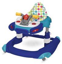 הליכון לתינוק בצורת אופנוע 2 ב 1 אלקטרוני - כחול