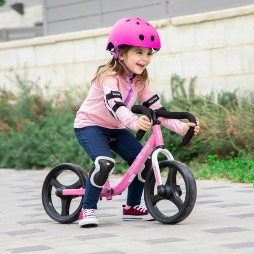אופני איזון מתקפלים עם כיסא וכידון מתכווננים - ורוד - תמונה 2