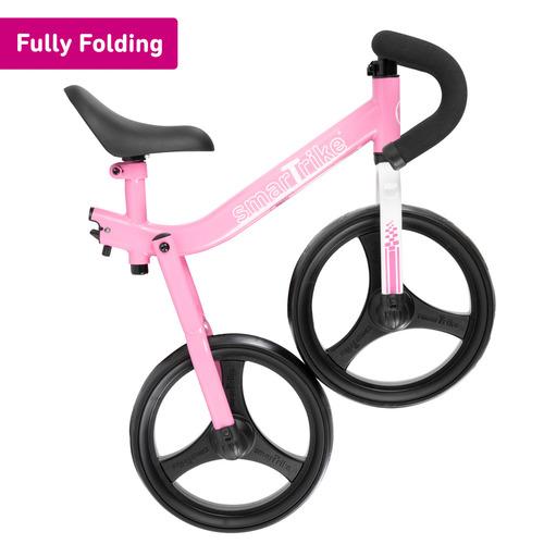 אופני איזון מתקפלים עם כיסא וכידון מתכווננים - ורוד - תמונה 3