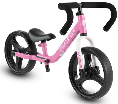 אופני איזון מתקפלים עם כיסא וכידון מתכווננים - ורוד
