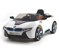 רכב ספורט ממונע 12V חזק, איכותי ומהיר לילדים דגם BMW i8