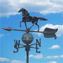 שבשבת רוחות מברזל עם דמות סוס לעיצוב הגינה