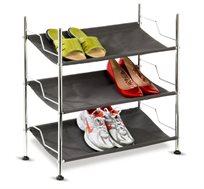 מתקן נעליים 3 קומות עשוי ניקל משולב בד איכותי ועמיד