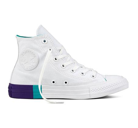 נעלי סניקרס אול סטאר גבוהות לנשים 159519 - לבן