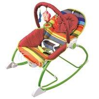טרמפולינה לתינוק עם כיסא נדנדה 3 ב 1 - פסים צבעוניים