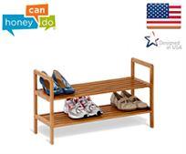 """מתקן נעליים עשוי מבמבוק איכותי ועמיד לאורך שנים מבית honey can do ארה""""ב בשני דגמים לבחירה"""
