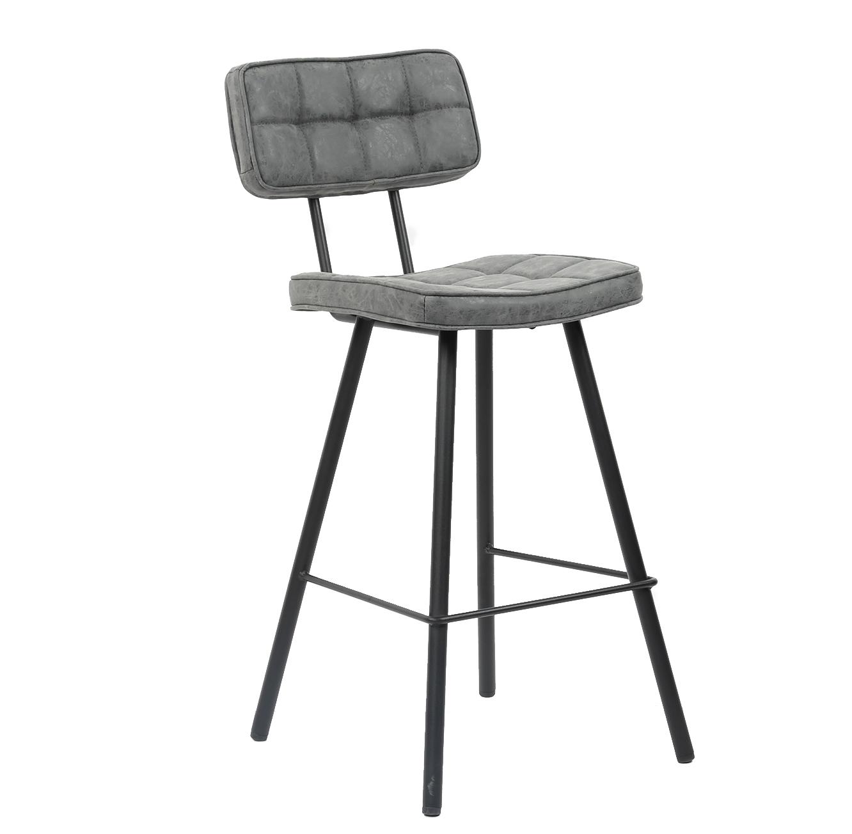 כסא בר בעיצוב מודרני בעל רגלי מתכת