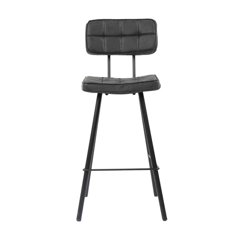 כסא בר מרופד בעיצוב מודרני לפינת האוכל בעל רגלי מתכת בצבעים לבחירה  - תמונה 5